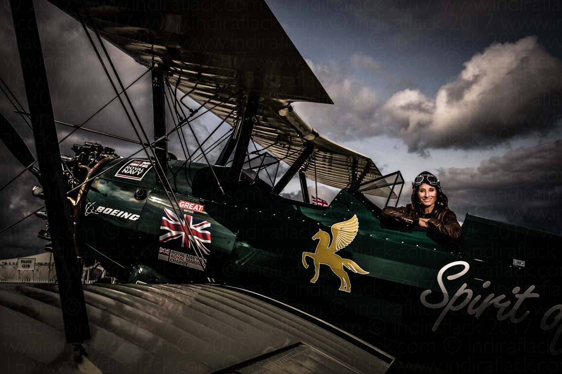 Goodwood Revival Freddie March Spirit of Aviation portrait by Indira Flack Photography