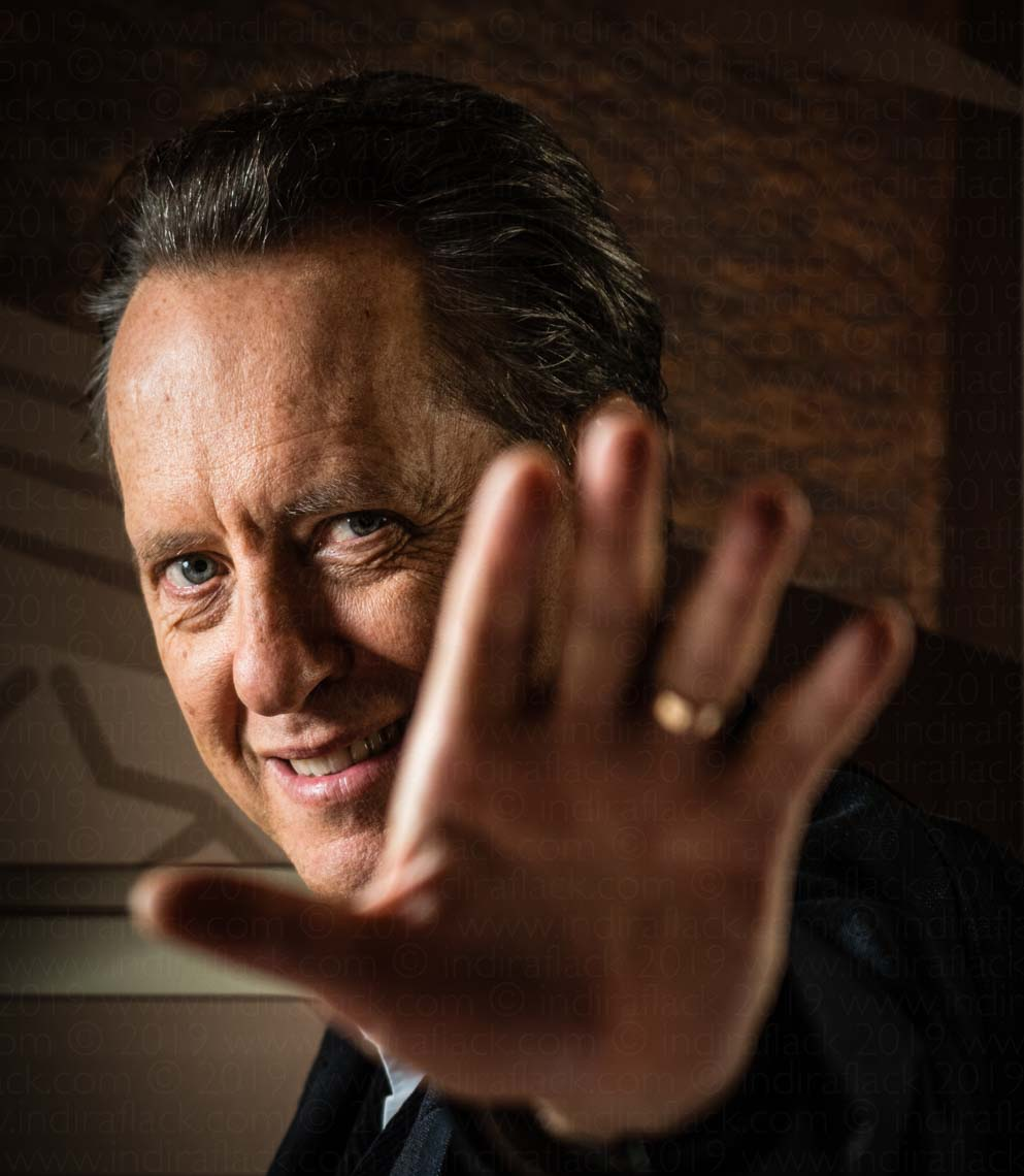 Richard E. Grant portrait taken for Mayfair Times by Indira Flack Photography