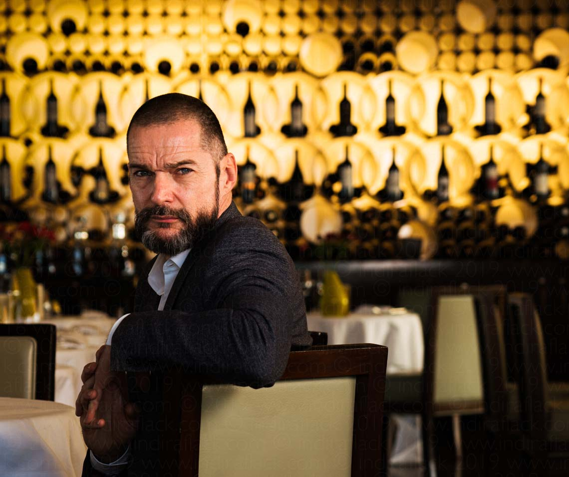 Fred Sirieix portrait taken for Mayfair Times by Indira Flack Photography