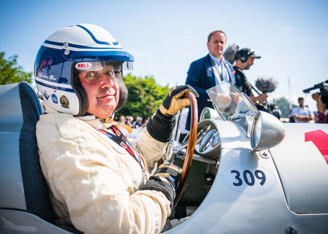 Goodwood Festival of Speed Jochan Mass F1 portrait taken by Indira Flack Photography