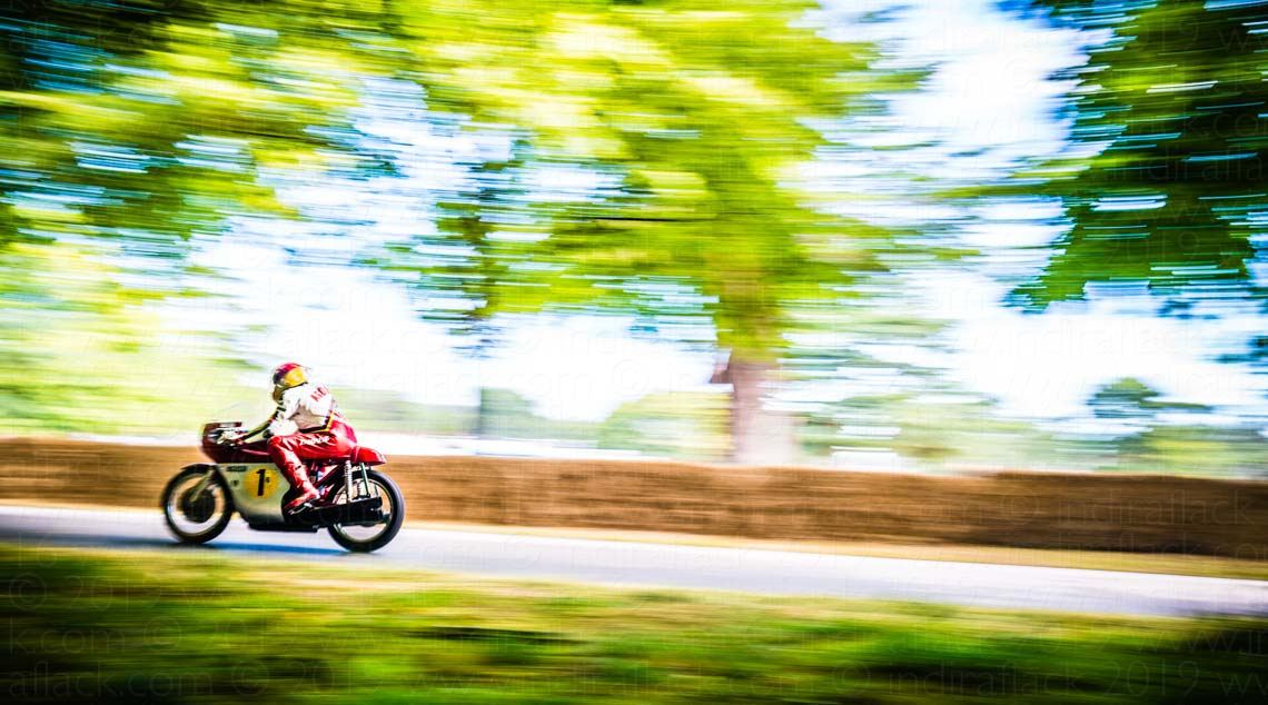 Giacomo Agostini taken by Indira Flack Photography at Goodwood Festival of Speed