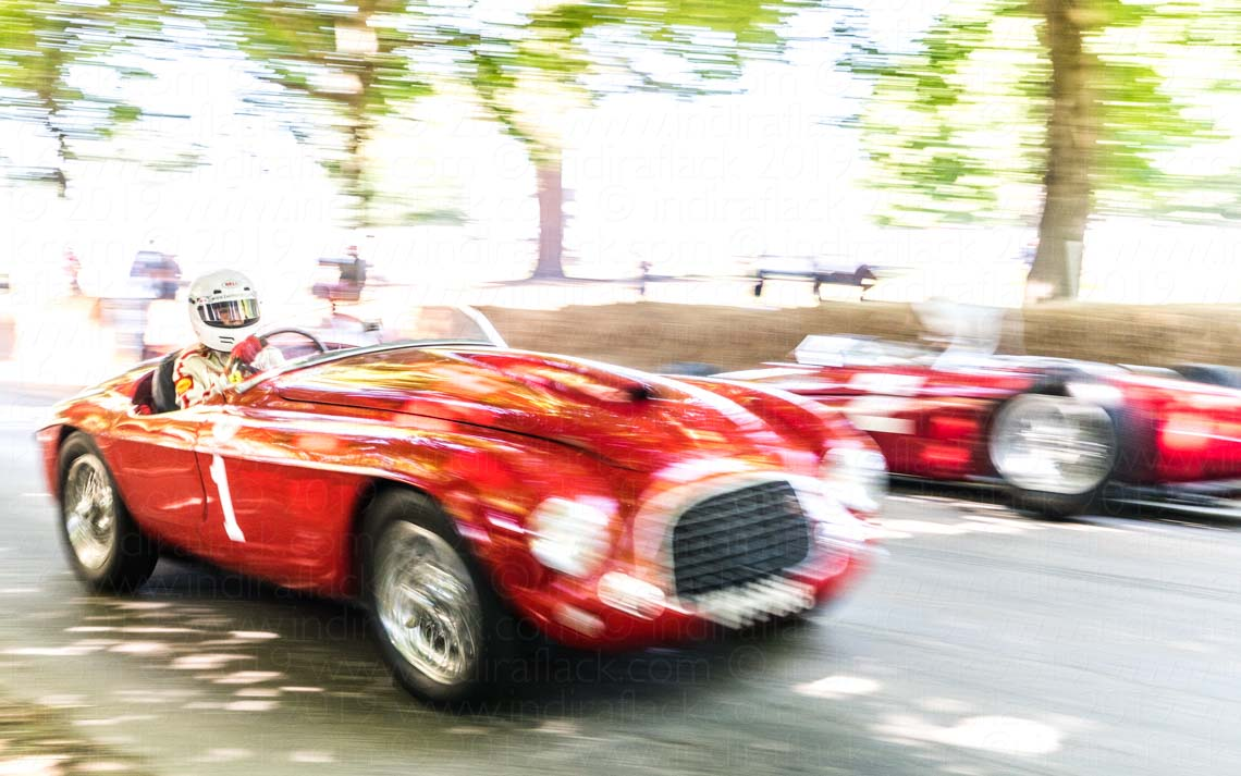 Ferrari 166 MM Barchetta captured by Indira Flack Photography at Goodwood Festival of Speed