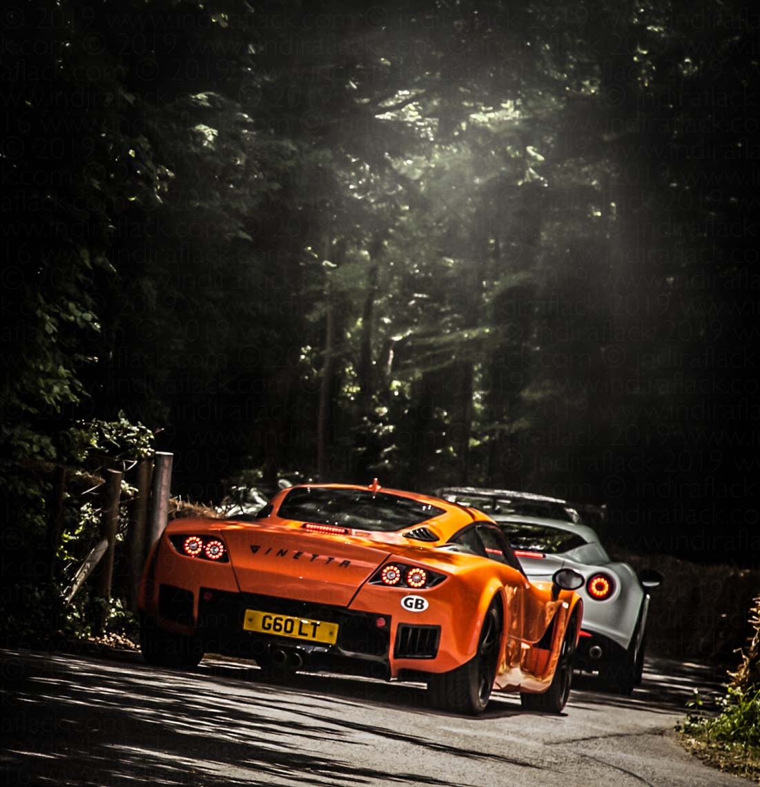Goodwood Festival of Speed Ginetta leaving paddock at Goodwood Festival of Speed captured Indira Flack Photography