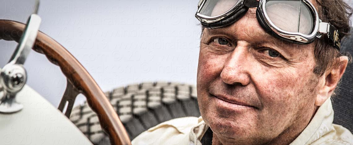 Jochen Mass - Former F1 driver Goodwood Festival of Speed portrait taken by Indira Flack Photography