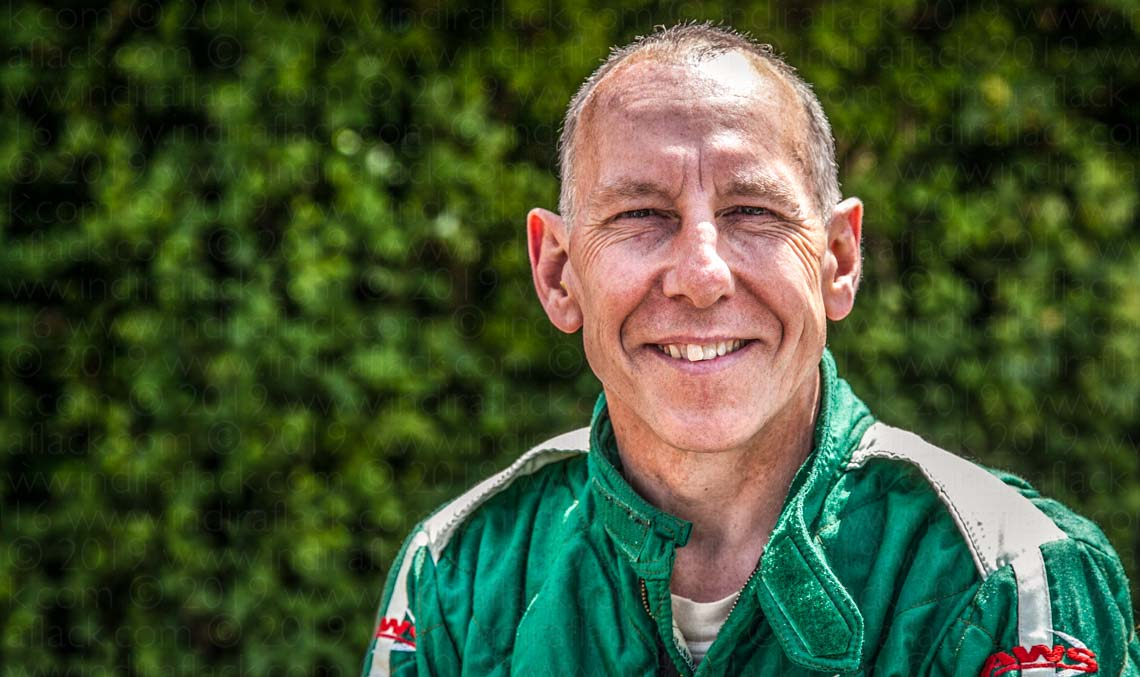 Andy Wallace - Le Mans winner portrait taken by Indira Flack Photography at Goodwood Festival of Speed