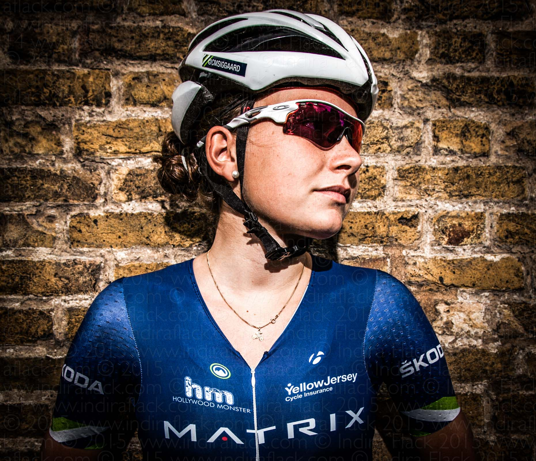 Christina Siggaard portrait by Indira Flack for Matrix Pro Cycling