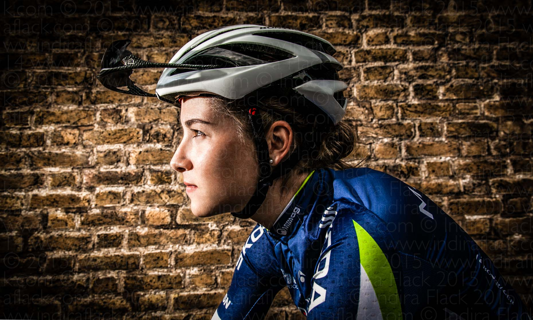 Kim Le Court portrait by Indira Flack for Matrix Pro Cycling